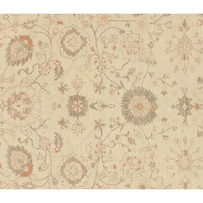 Xenos Oriental Hand-Knotted Rectangle Wool Tan Area Rug