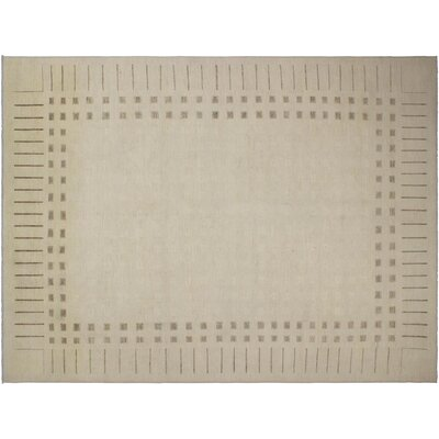 Pictor Hand-Knotted Wool Tan Area Rug