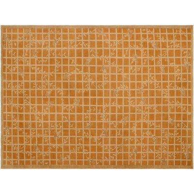 Badham Hand-Knotted Wool Orange/Light Brown Area Rug