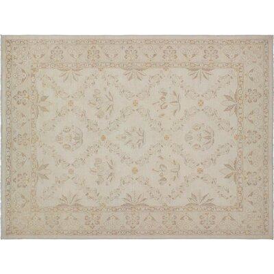 Adalrik Hand-Knotted Wool Ivory/Tan Area Rug