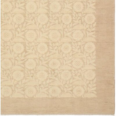 Xenos Hand-Knotted Rectangle Wool Tan/Light Brown Area Rug