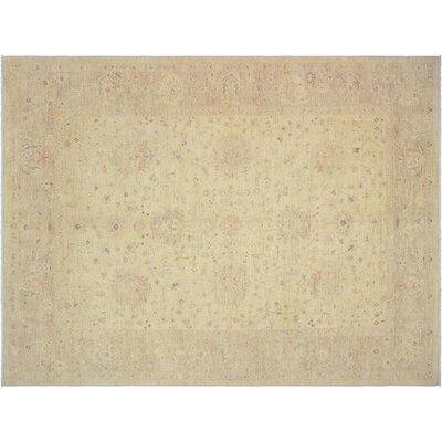 Xenos Traditional Hand-Knotted Wool Tan Indoor Area Rug