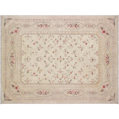 Xenos Hand-Knotted Rectangle Wool Ivory/Tan Area Rug