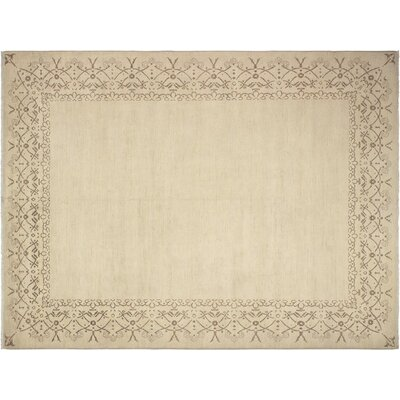 Xenos Oriental Hand-Knotted Wool Tan Indoor Area Rug