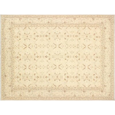 Xenos Hand-Knotted Rectangle Wool Tan Indoor Area Rug