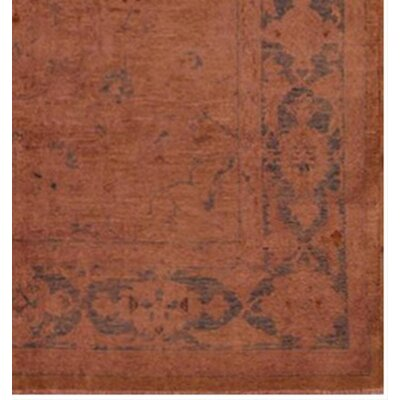 Badillo Hand-Knotted Wool Rose Area Rug