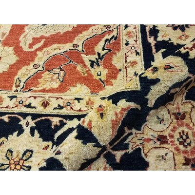 Xenos Hand-Knotted Wool Orange/Blue Area Rug