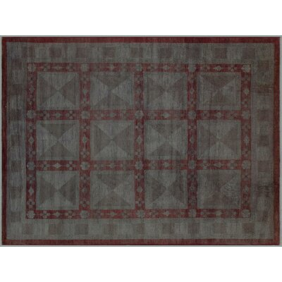 Badillo Over Hand-Knotted Wool Light Gray Area Rug