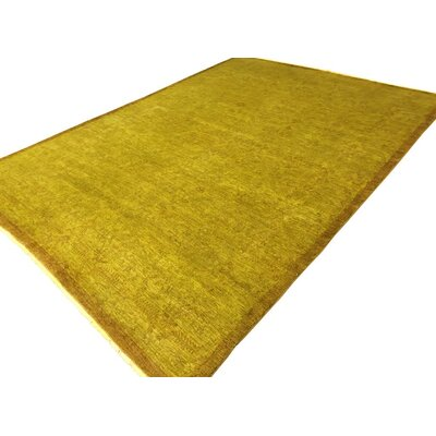 Badillo Hand-Knotted Wool Gold Area Rug