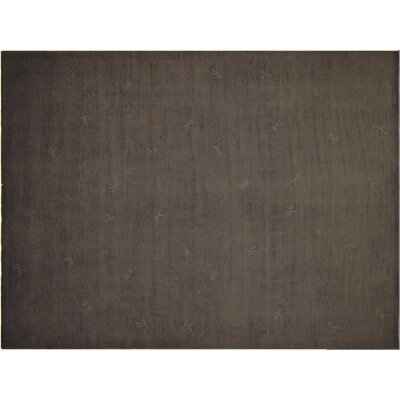 Badillo Contemporary Hand-Knotted Wool Gray Area Rug