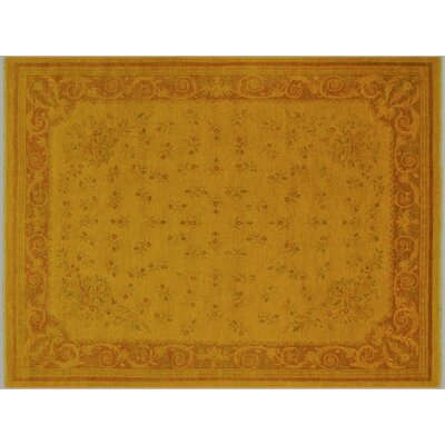 Badillo Hand-Knotted Wool Gold/Brown Area Rug