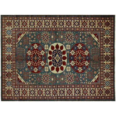 Baldwin Park Hand-Knotted Wool Green/Ivory Area Rug