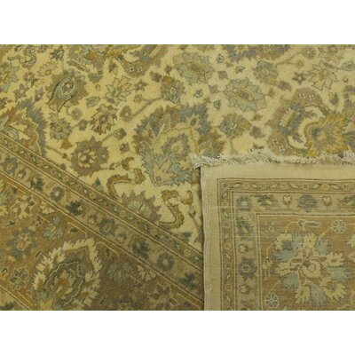 Bath Hand-Knotted Wool Ivory/Light Brown Area Rug