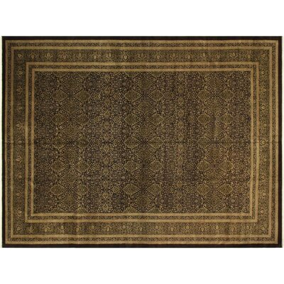 Bath Hand-Knotted Wool Brown/Green Area Rug
