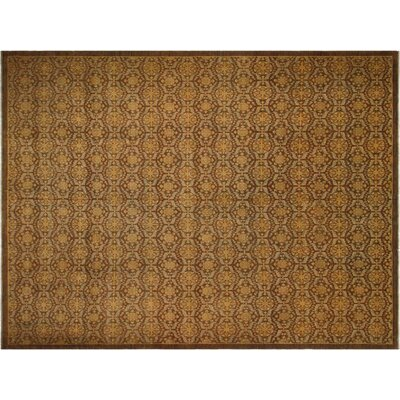 Badham Hand-Knotted Wool Brown Area Rug