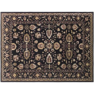 Xenos Hand-Knotted Wool Black/Gold Area Rug