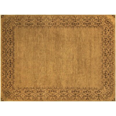 Badham Hand-Knotted Rectangle Wool Tan Area Rug