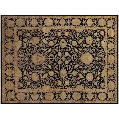 Badham Hand-Knotted Wool Blue Area Rug