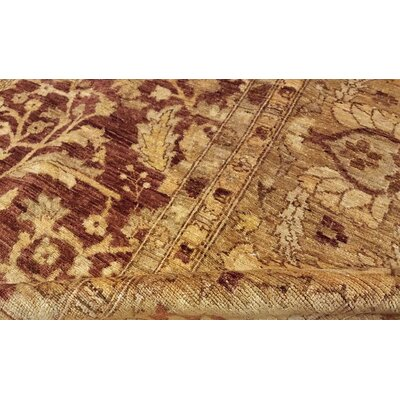 Badham Hand-Knotted Rectangle Wool Rust Area Rug
