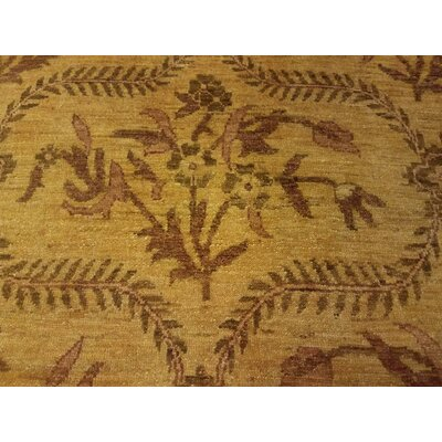 Badham Hand-Knotted Wool Gold Area Rug