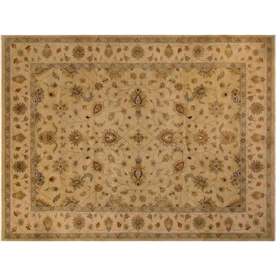 Badham Hand-Knotted Wool Light Tan Area Rug