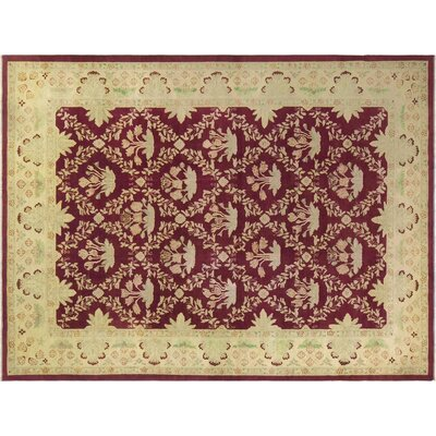 Xenos Hand-Knotted Wool Red/Gold Area Rug