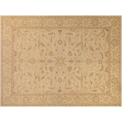 Xenos Traditional Hand-Knotted Wool Tan Area Rug