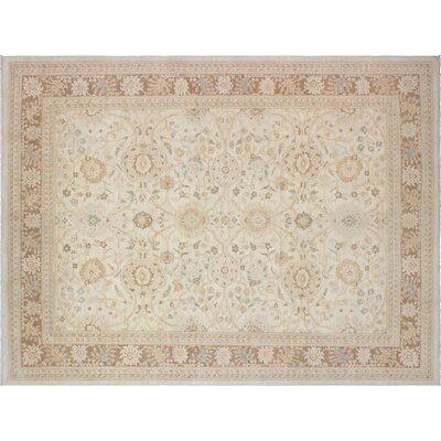 Xenos Hand-Knotted Wool Tan/Light Brown Area Rug