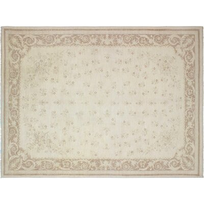 Xenos Hand-Knotted Wool Beige/Light Brown Area Rug