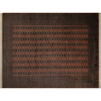 Bakerstown Hand-Knotted Wool Rose/Black Area Rug