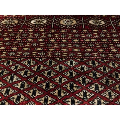 Bakerstown Hand-Knotted Wool Red/Gold Area Rug