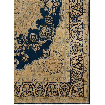 Barkhampstead Hand-Knotted Rectangle Wool Blue Area Rug