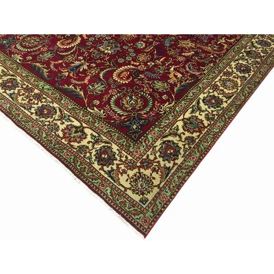 Allessandra Hand-Knotted Wool Red/Ivory Area Rug