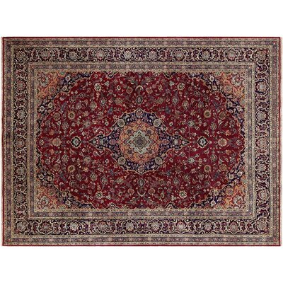 Barkhampstead Hand-Knotted Rectangle Wool Red/Blue Area Rug