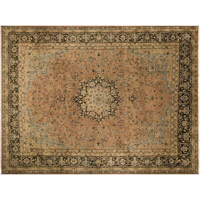 Allessandra Hand-Knotted Wool Brown Area Rug