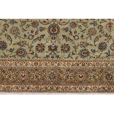 Barkley Hand-Knotted Wool Green Area Rug