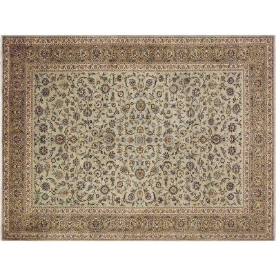Barkhampstead Hand-Knotted Wool Green/Beige Area Rug