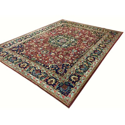 Barkhampstead Hand-Knotted Wool Red/Blue Area Rug