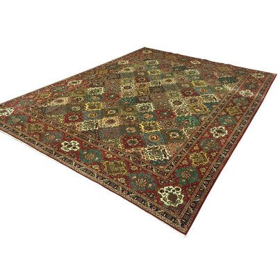 Barkhampstead Hand-Knotted Wool Red Area Rug