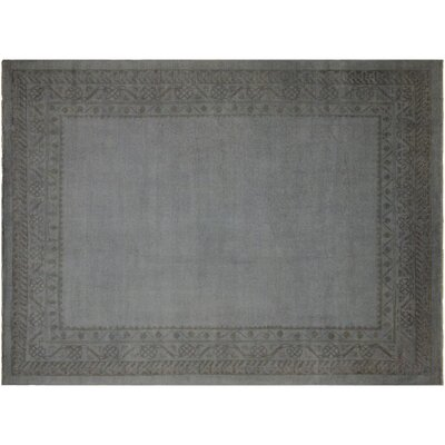 Badillo Hand-Knotted Wool Light Gray Area Rug
