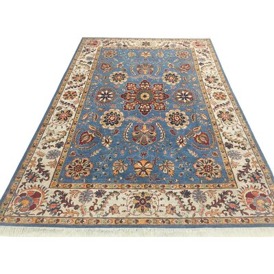Baldwin Park Hand-Knotted Wool Light Blue/Ivory Area Rug
