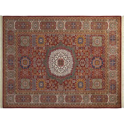 Baldwin Park Hand-Knotted Wool Red Area Rug