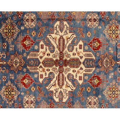 Baldwin Park Hand-Knotted Wool Blue/Tan Area Rug