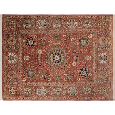 Baldwin Park Hand-Knotted Wool Rust Area Rug