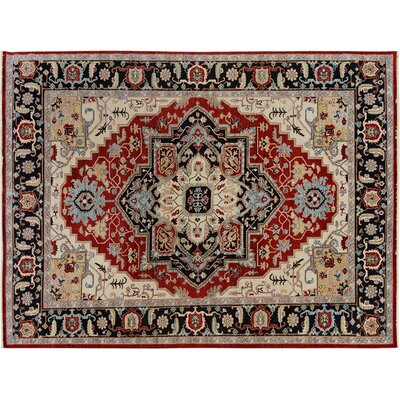 Bear River Hand-Knotted Wool Red/Blue Area Rug