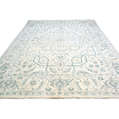 Adalrik Hand-Knotted Wool Ivory/Gray Area Rug