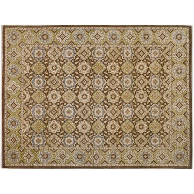 Xenos Hand-Knotted Wool Brown/Green Area Rug
