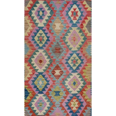 Bakerstown Hand-Woven Wool Blue/Gray Area Rug