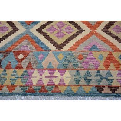 Bakerstown Hand-Woven Wool Blue/Gray Oriental Area Rug