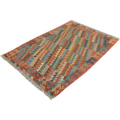 Bakerstown Hand-Woven Wool Beige/Rust Area Rug